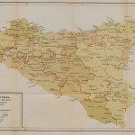 نقشه ی مافیا از سیسیل در سال 1900