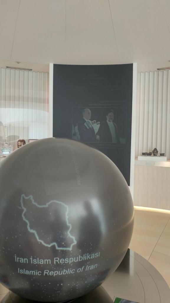 قسمت مربوط به سیاستهای ایران و آذربایجان در دورههای مختلف در موزه حیدر علیف باکو