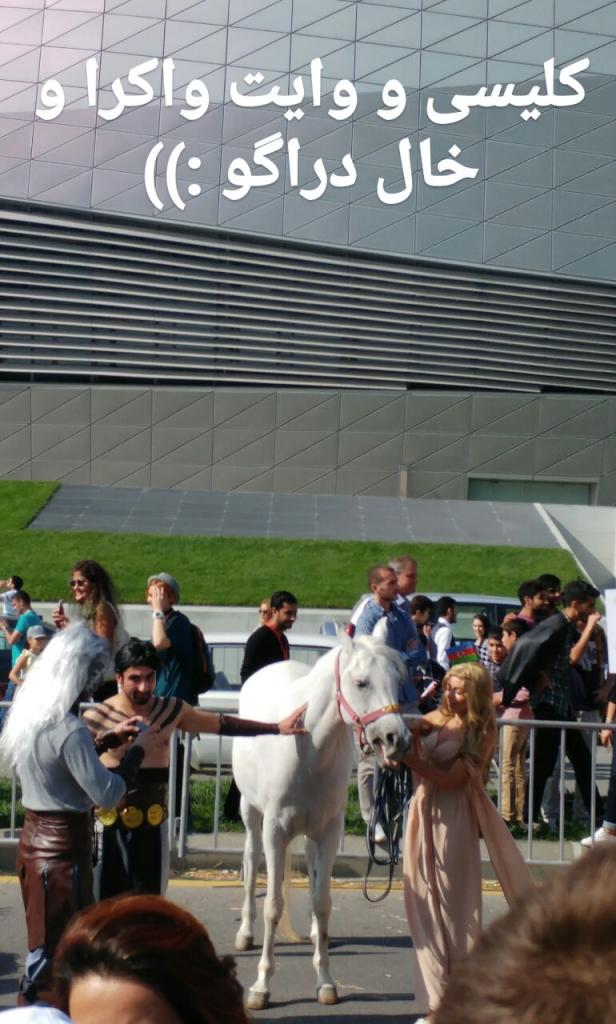 کاراکترهای گیمآوترونز در ایونت ردبول باکو.