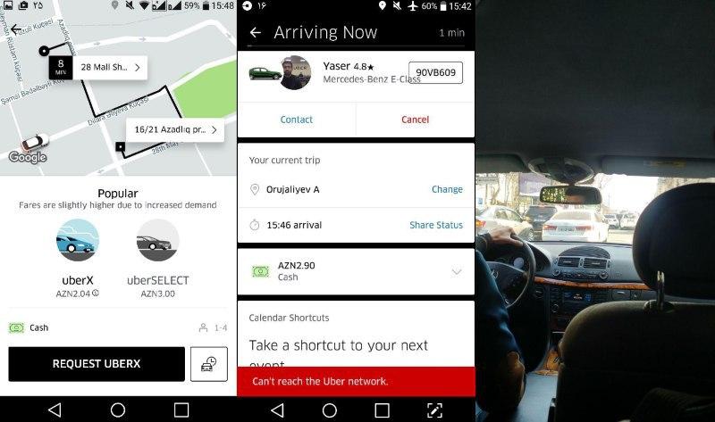 تجربه استفاده از اوبر Uber (تاکسی اینترنتی) تو باکو