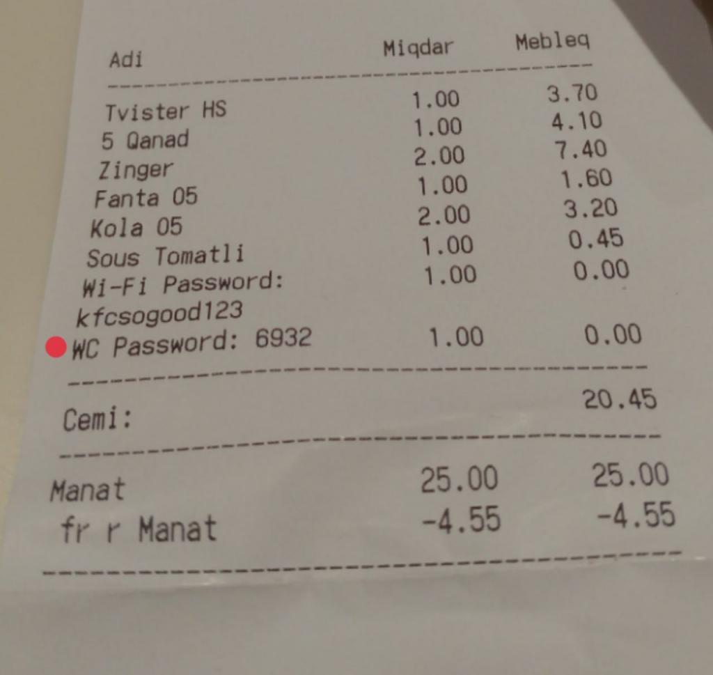 قیمت غذا در باکو آذربایجان