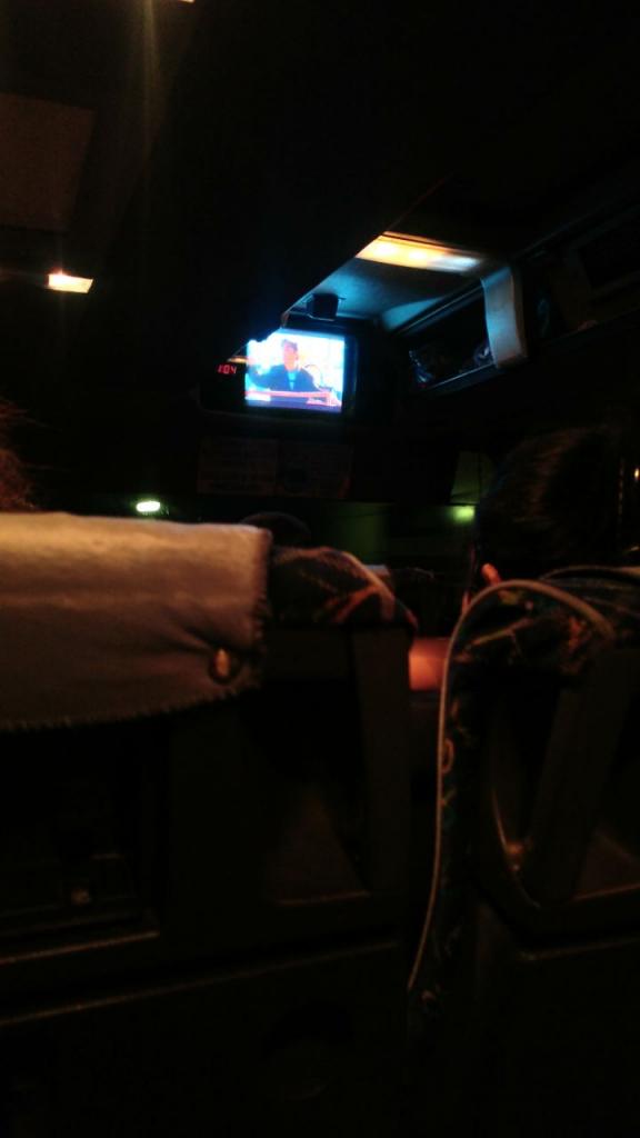 داخل اتوبوس به سمت تفلیس