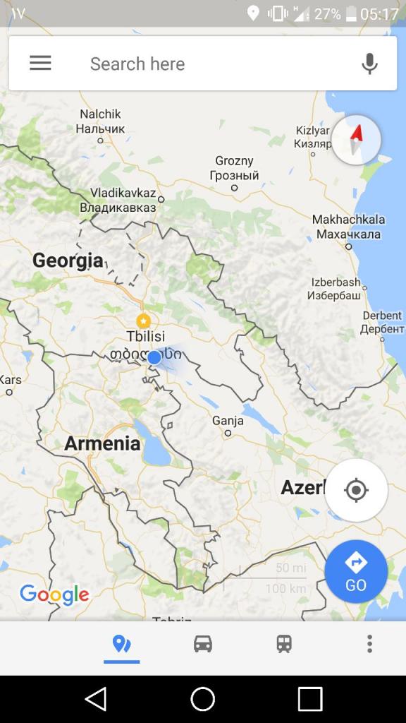 مرز زمینی گرجستان و آذربایجان نزدیک مرز ارمنستان هست