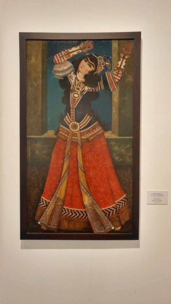 رقصنده قجری - نقاشی دوره فتحعلی شاه قاجار