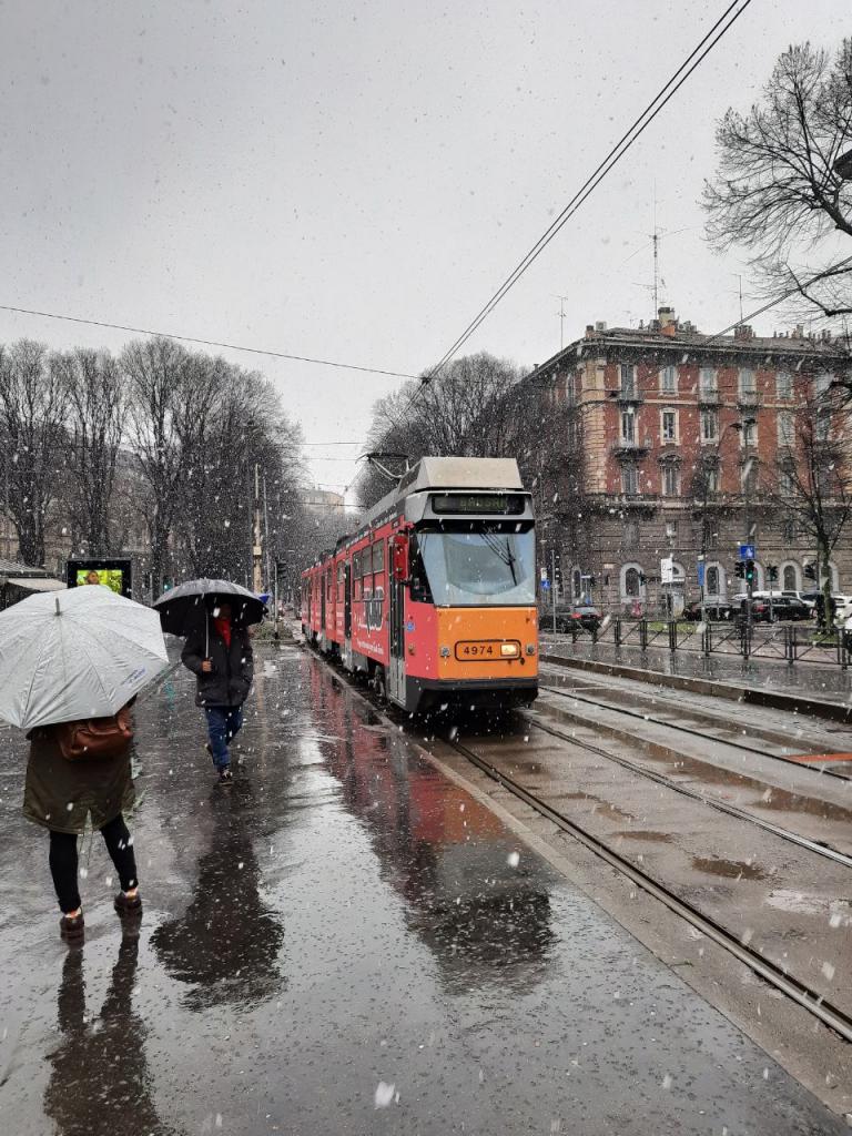 برف میلان