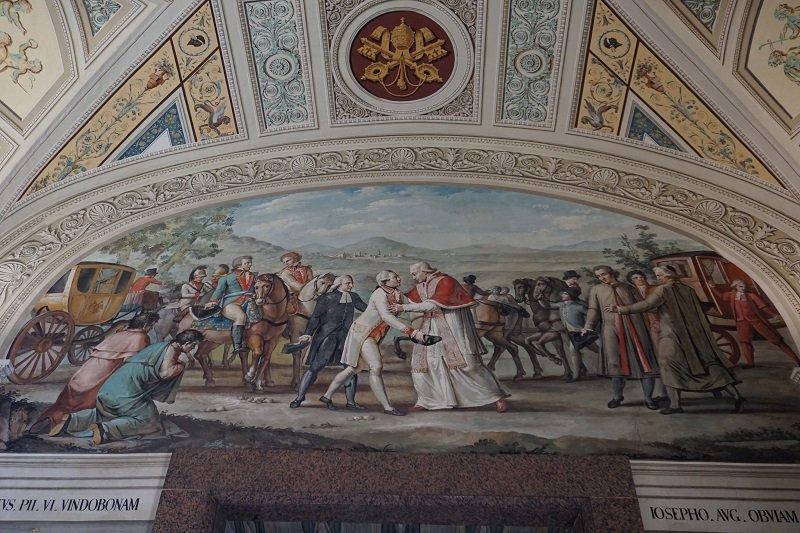 تصویری از فرانسوی های در موزه واتیکان